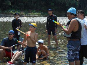 川遊び写真